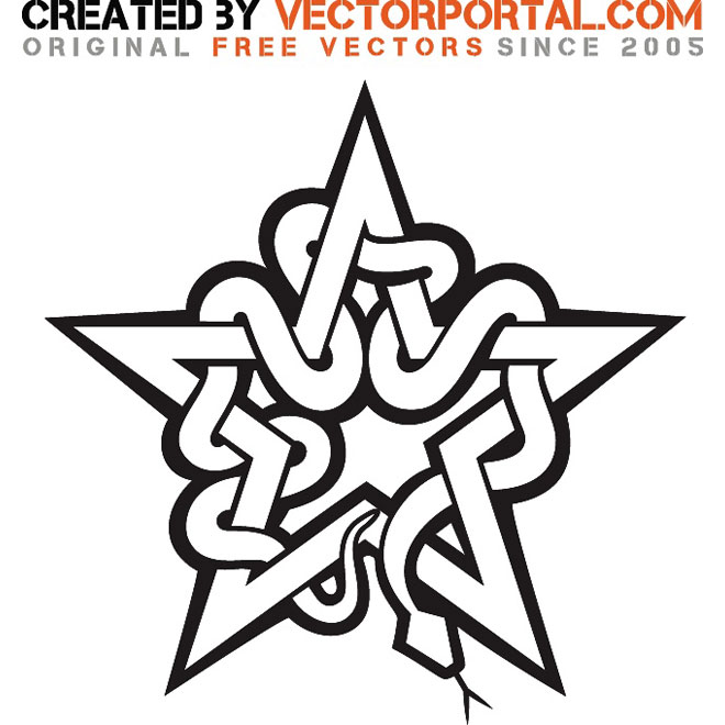 660x660 Star And Snake Vector Graphics Free Vectors Ui Download