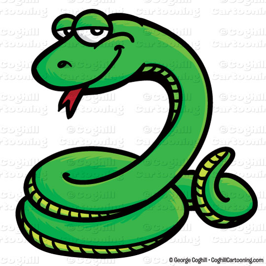 540x540 Cartoon Snake Clip Art Stock Illustration