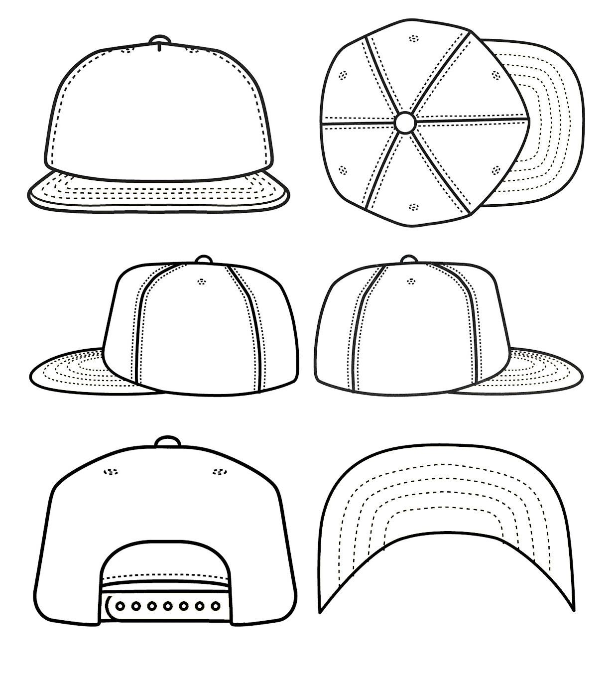 1231x1355 Best Photos Of Blank Snapback Stencil