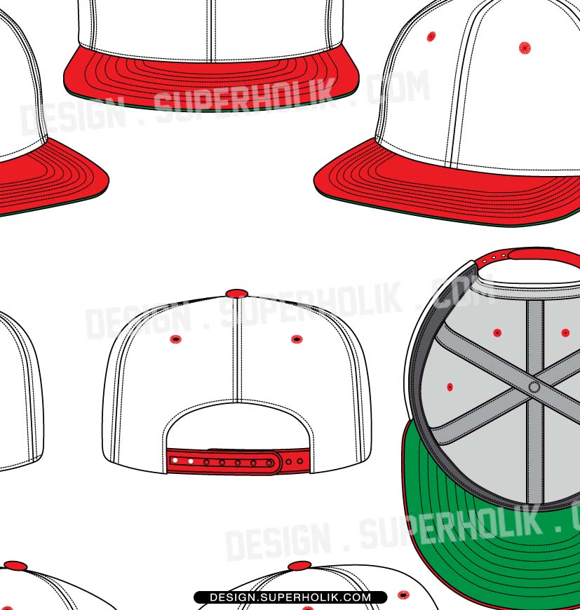 827x870 Hat Template Set 01 Hellovector