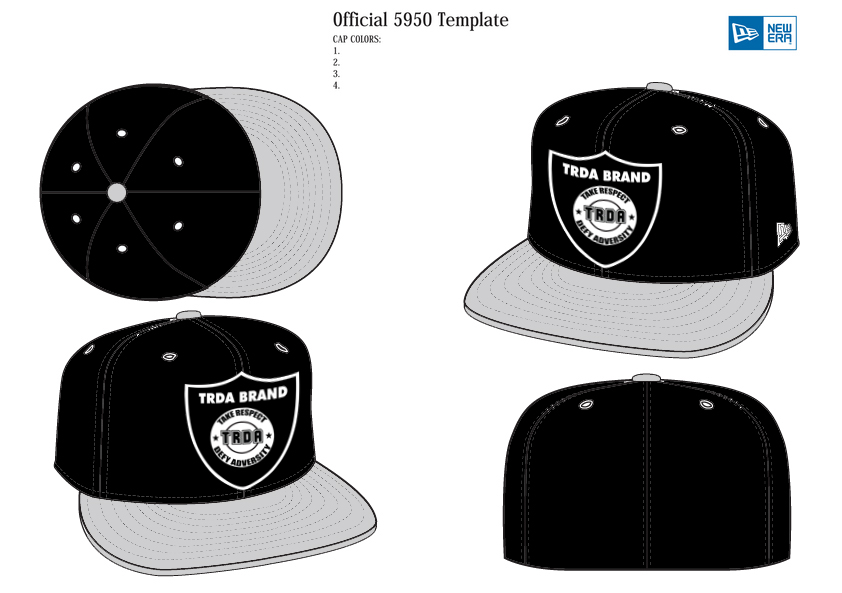 842x593 New Era Hat Template Vector