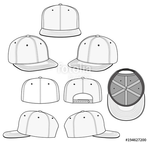 500x484 Snapback 2018 Vector Illustration Flat Sketches Template Stock
