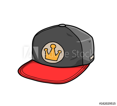 500x450 Snapback Hat, A Hand Drawn Vector Illustration Of A Snapback Hat