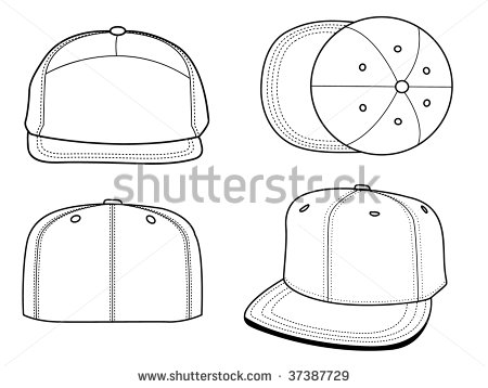450x358 Snapback Hat Template Hat Template Download Free Vector Art Stock