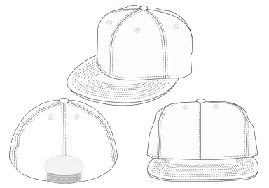 384x269 Baseball Cap Design Template Arts