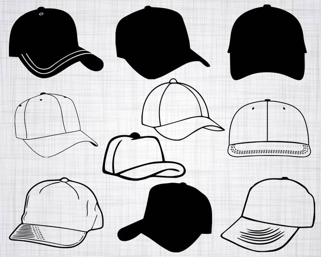 642x514 Baseball Cap Svg Bundle Baseball Cap Svg Clipart Cut Files Etsy