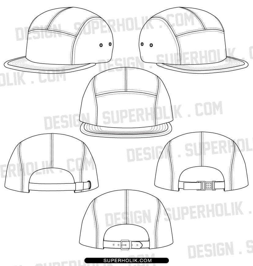 827x870 Hat Design Template Set Of Monochrome Doodle Hats Boots Socks