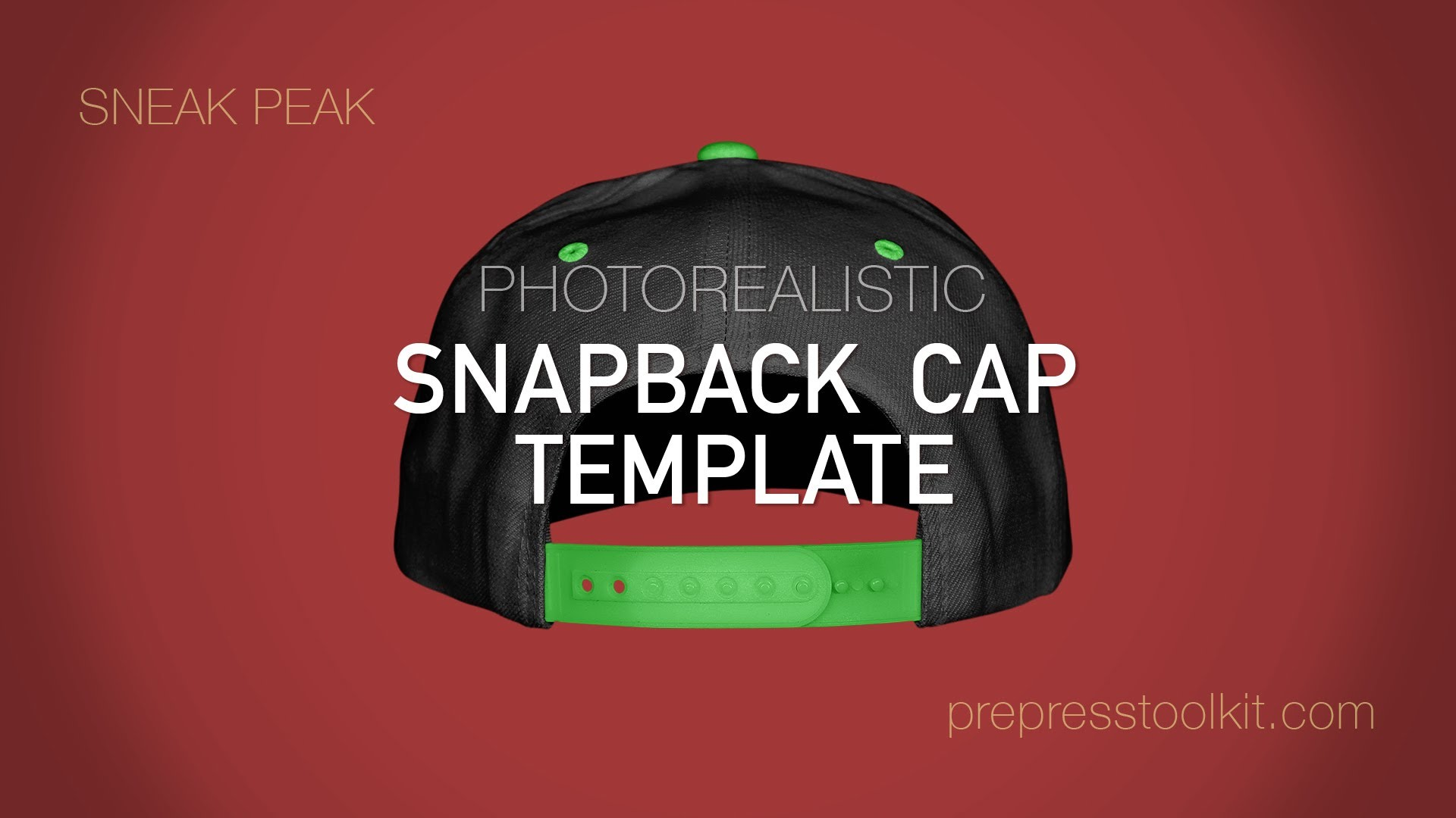 1920x1080 Product Sneak Peak Snapback Cap Template