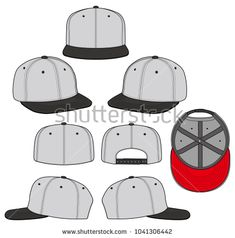 235x238 Snapback Color 2018 Vector Illustration Flat Sketches Template
