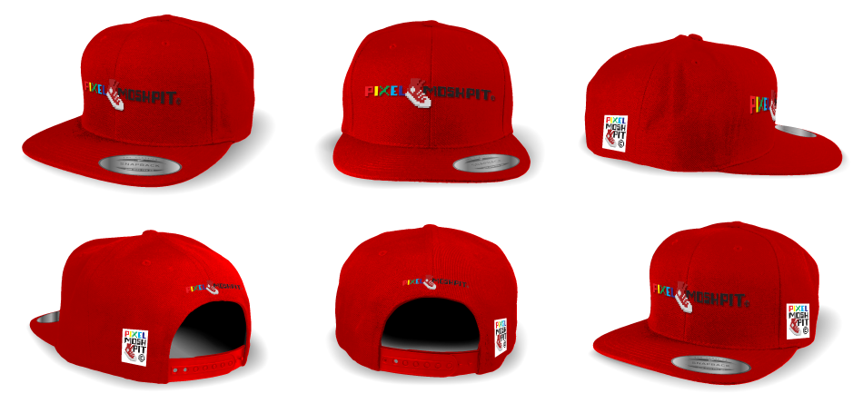 950x455 Snap Back Hat Editable Vector Mockup Kit Pixel Moshpit