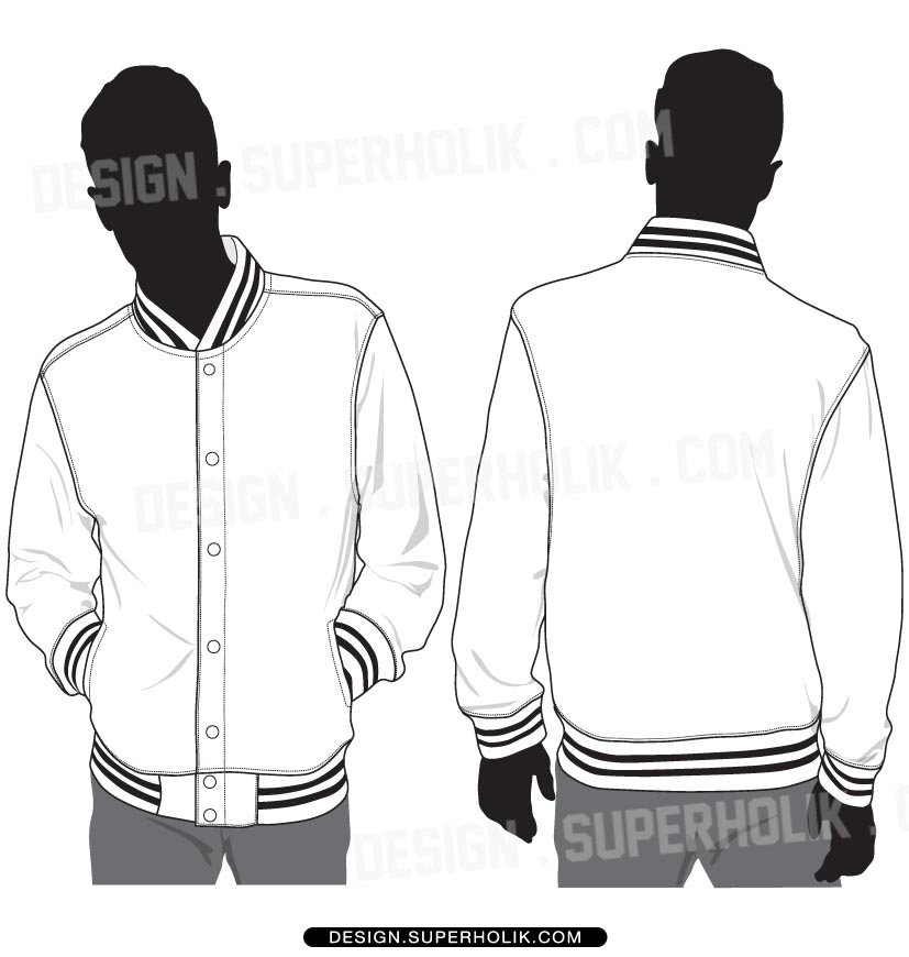 827x870 Varsity Jacket Template Vector By Superholik