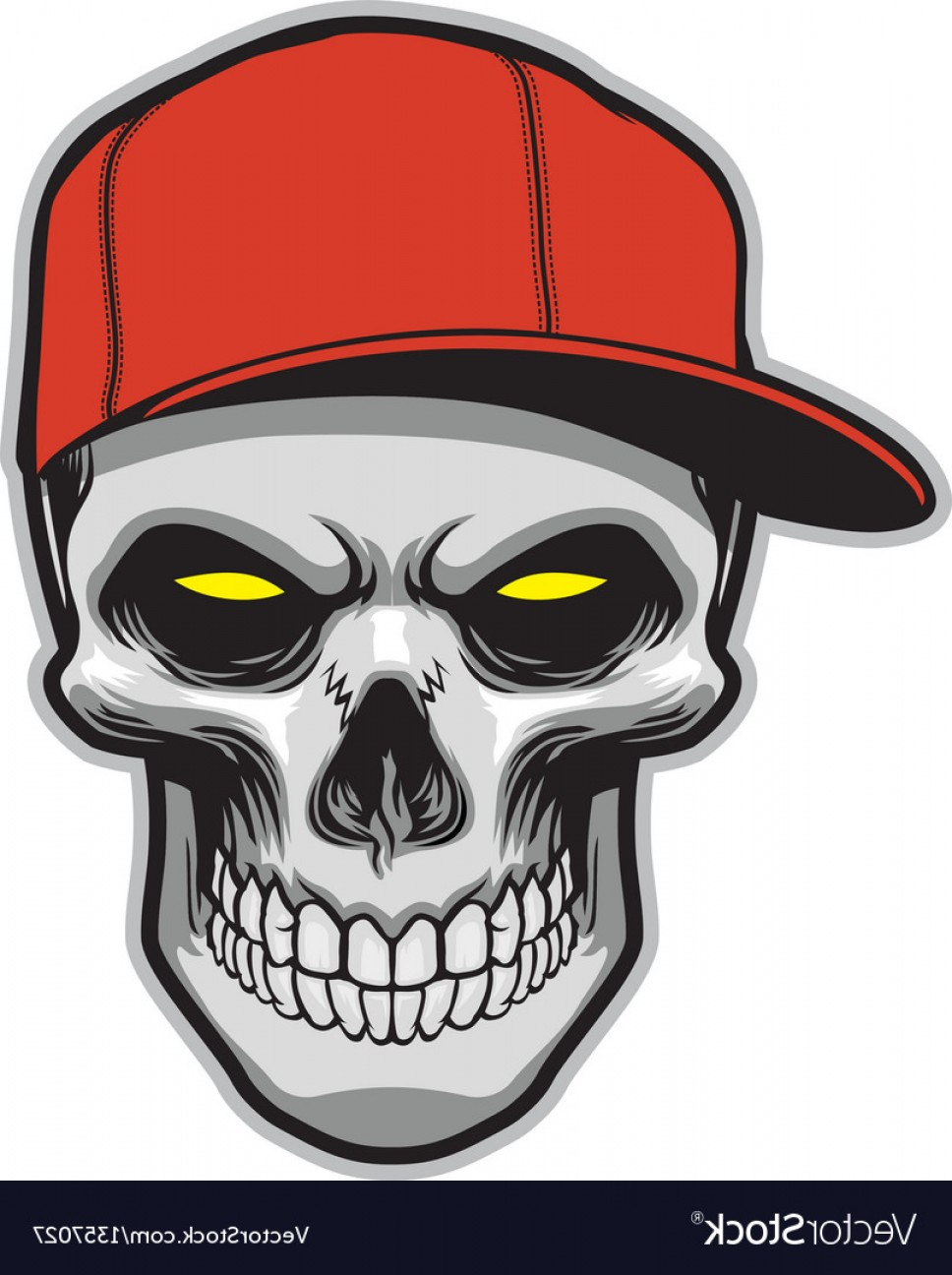 968x1296 Skull Head Wearing A Hat Vector Shopatcloth