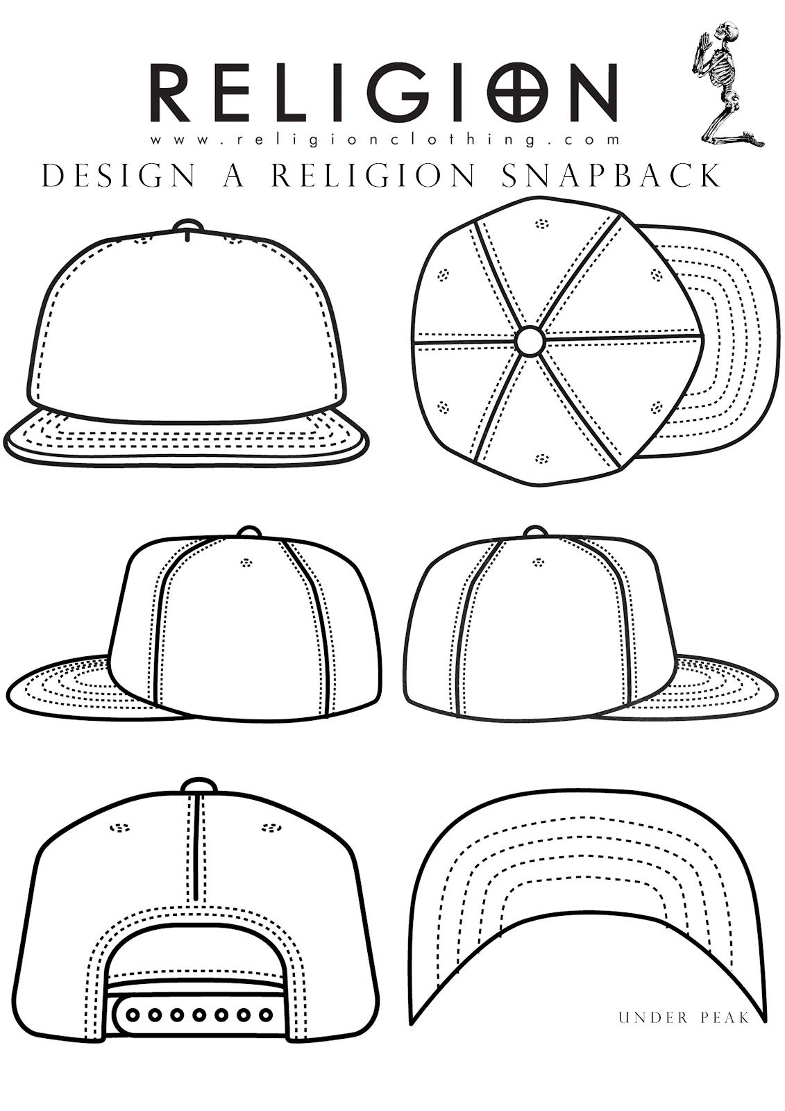 1131x1600 Snapback Template Projects Snapback, Drawing