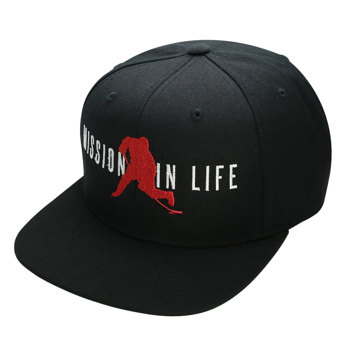 1200x1200 Black Hockey Vector Logo Snapback