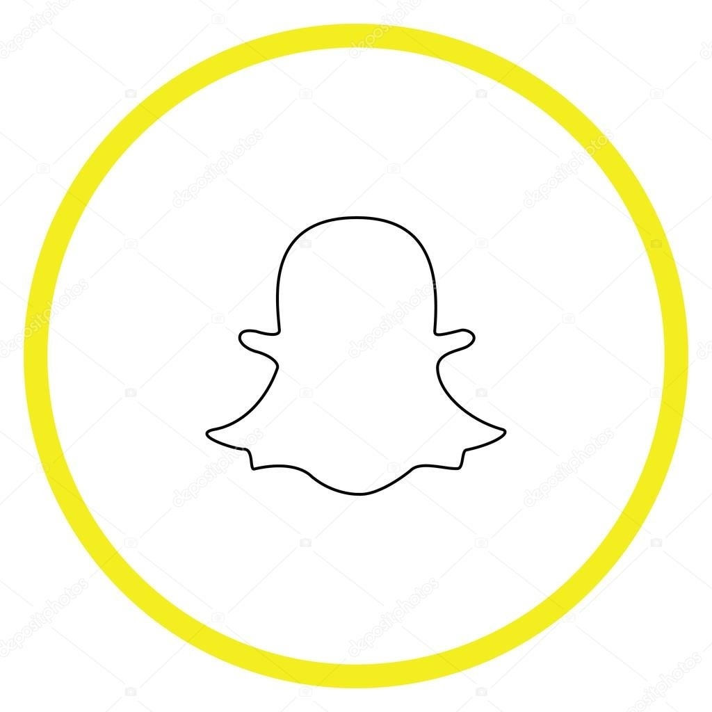 1024x1024 Snapchat Ghost Vector Free Design Templates