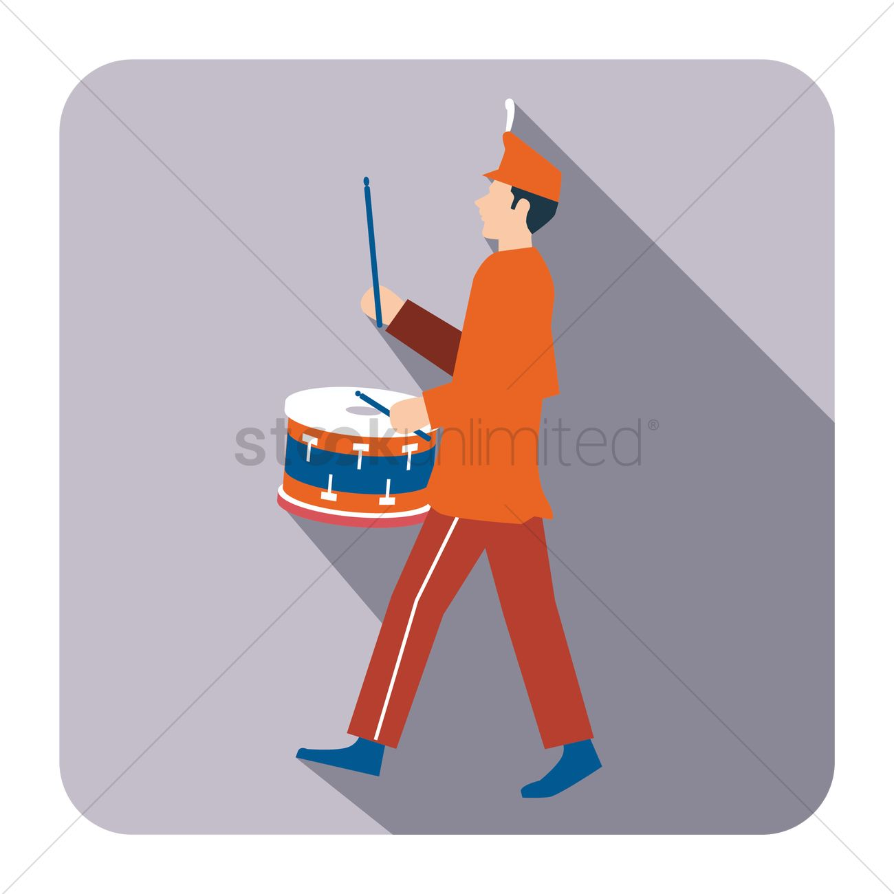 1300x1300 Free Person Playing Snare Drum Vector Image