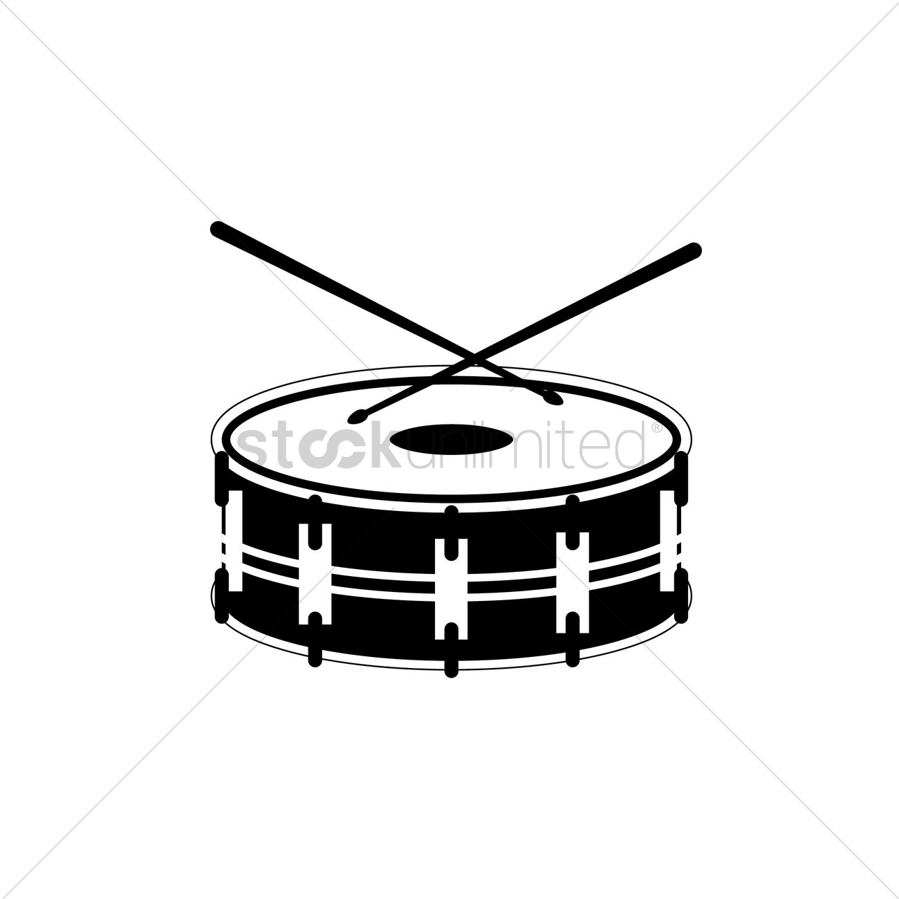1300x1300 Free Silhouette Of Bass Drum Vector Image