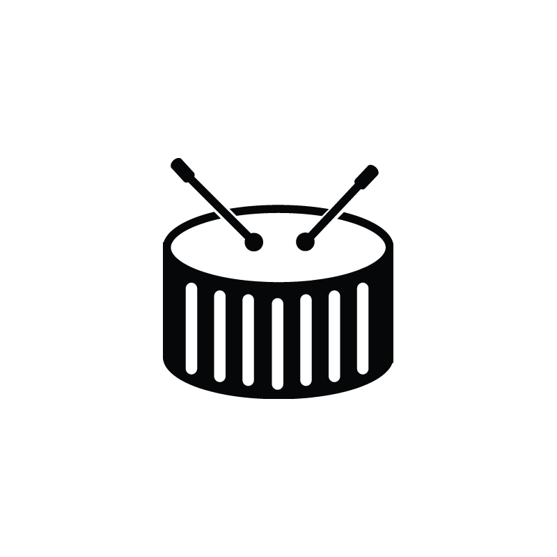 800x800 Snare Drum, Percussion, Bass, Drum Vector Icon