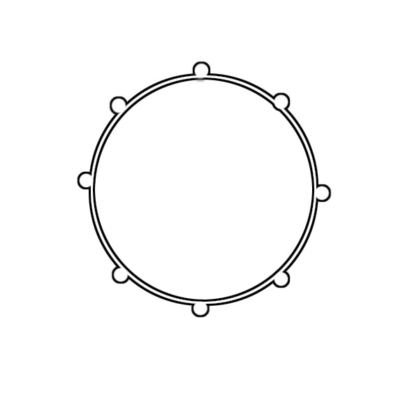 600x600 Steel Snare Drum Clipart