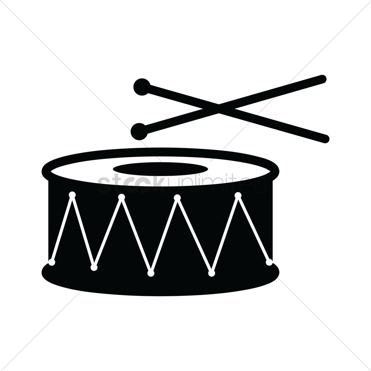 1300x1300 Drums Vector Image
