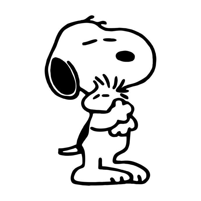 690x690 Snoopy Hugging Woodstock Graphics Design Svg By Vectordesign On Zibbet