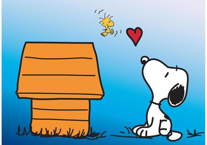 700x490 Snoopy Vector Card