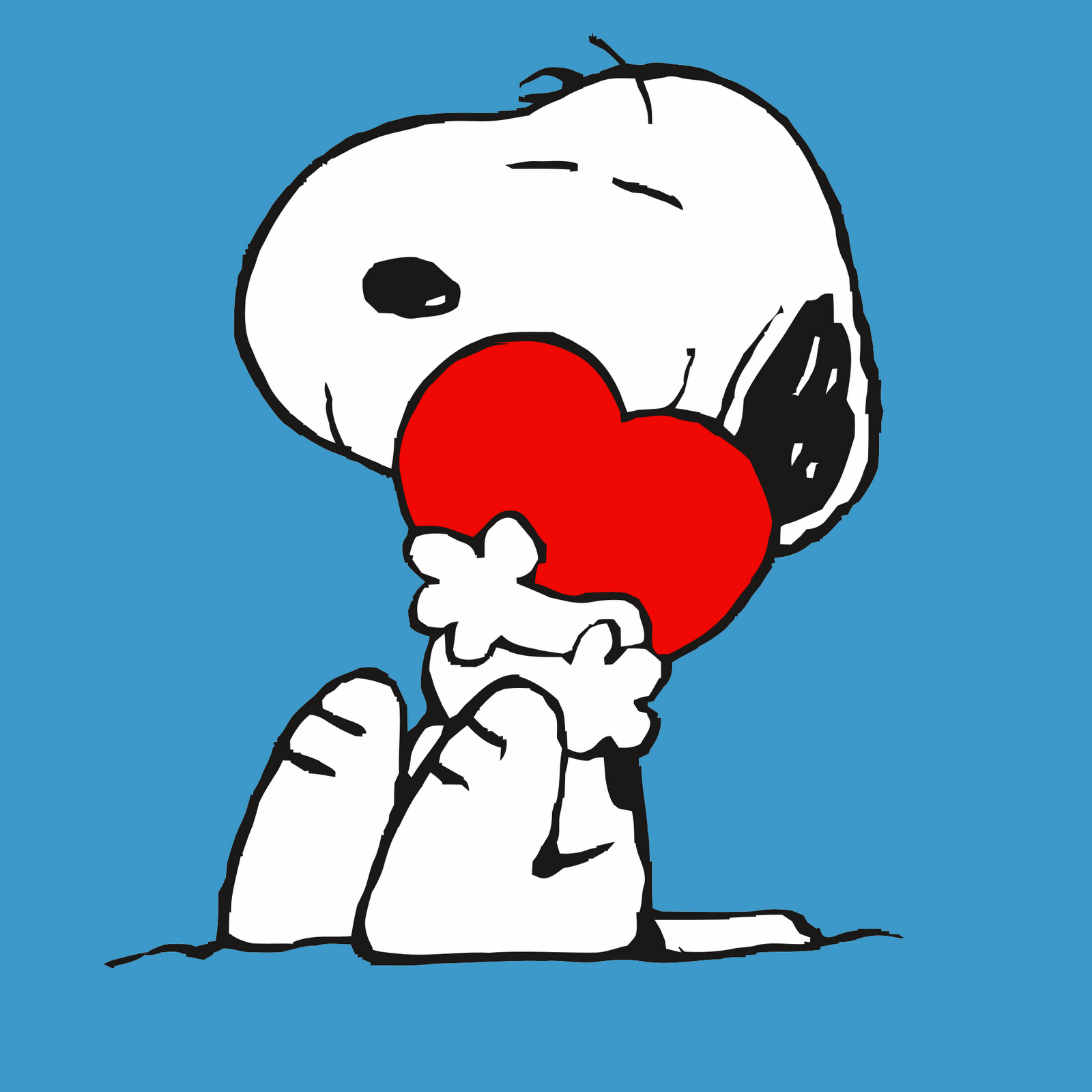 1600x1600 Snoopy And Heart Vector Background For Android