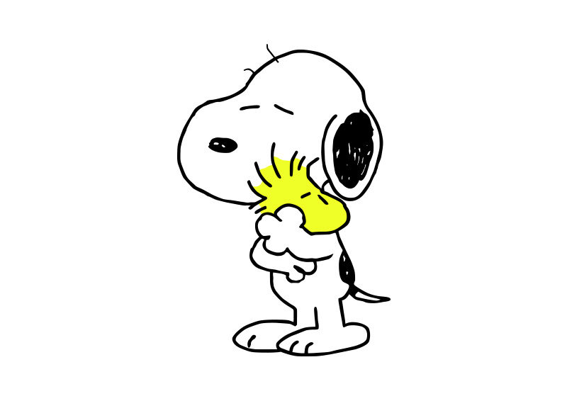 800x566 Snoopy And Woodstock Free Vector