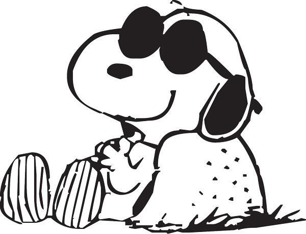 600x458 Snoopy Dog Vector Sketches