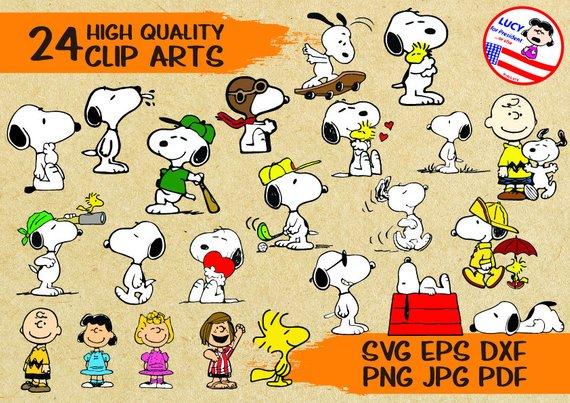 570x403 24 Peanutssnoopy Svg Cut File Clip Arts Printable Vector Etsy