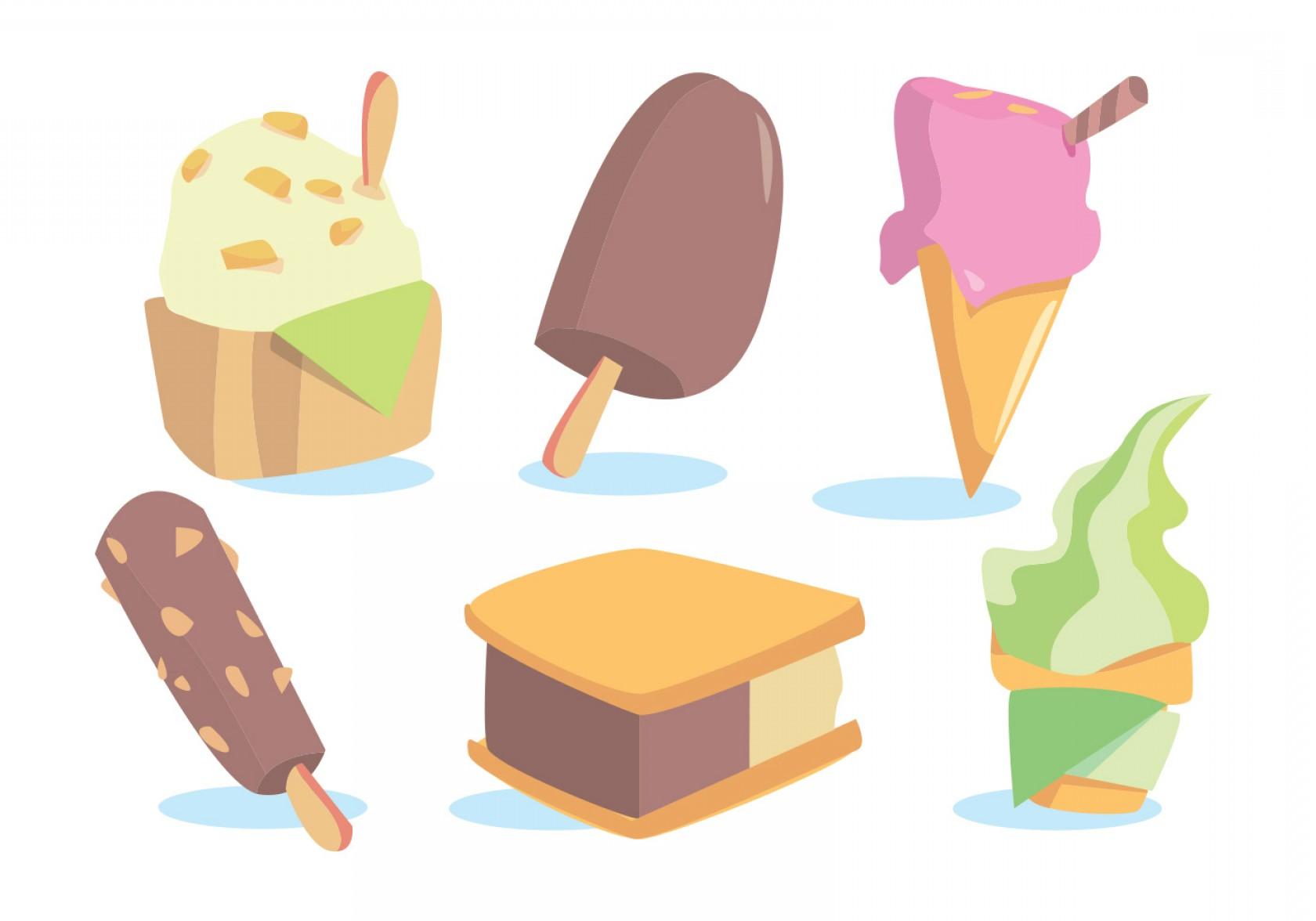 1680x1176 Snow Cone Ice Cream Vector Set Lazttweet