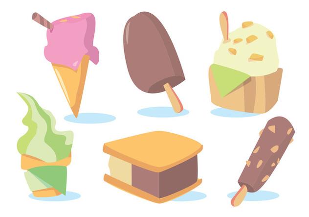 632x443 Snow Cone Ice Cream Vector Set Free Vector Download 346073 Cannypic