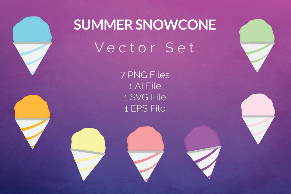 1200x800 Summer Snowcone Vector Set