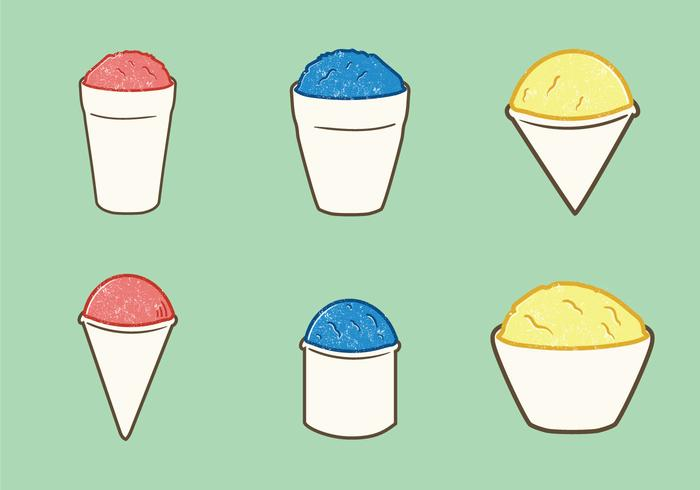 700x490 Free Snow Cone Cup Vector Illustration