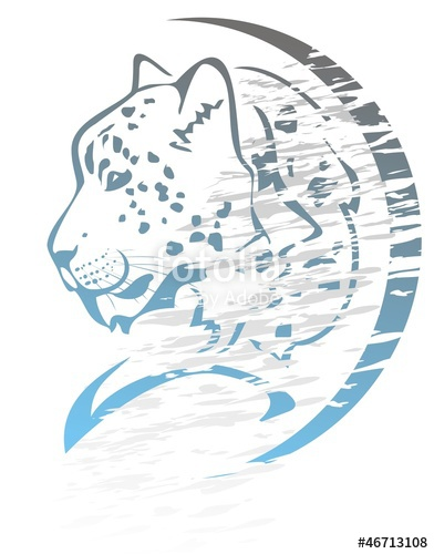 392x500 Snow Leopard Symbol Graffiti Stock Image And Royalty Free Vector