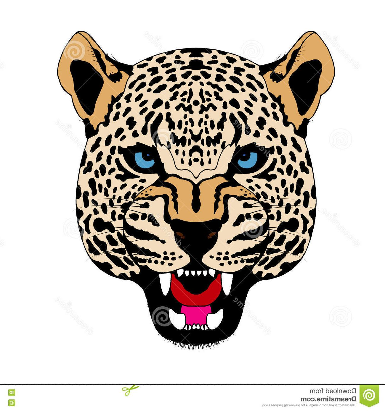 1300x1390 Best Free Snow Leopard Head Face Realistic Color Vector