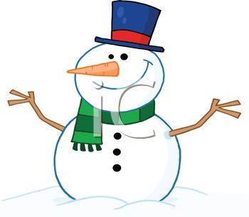 350x305 Picture Of A Snowman Dressed Up Sitting In A Pile Of Snow In A