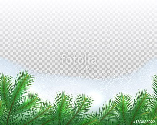 500x400 Seamless Border Of Fir Branches With Snow Pile On Transparent