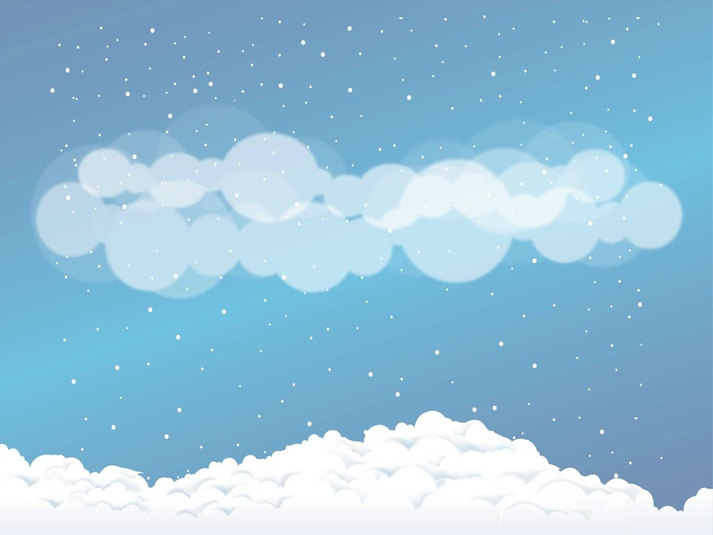 1024x768 Snow Clouds Vector Art Amp Graphics