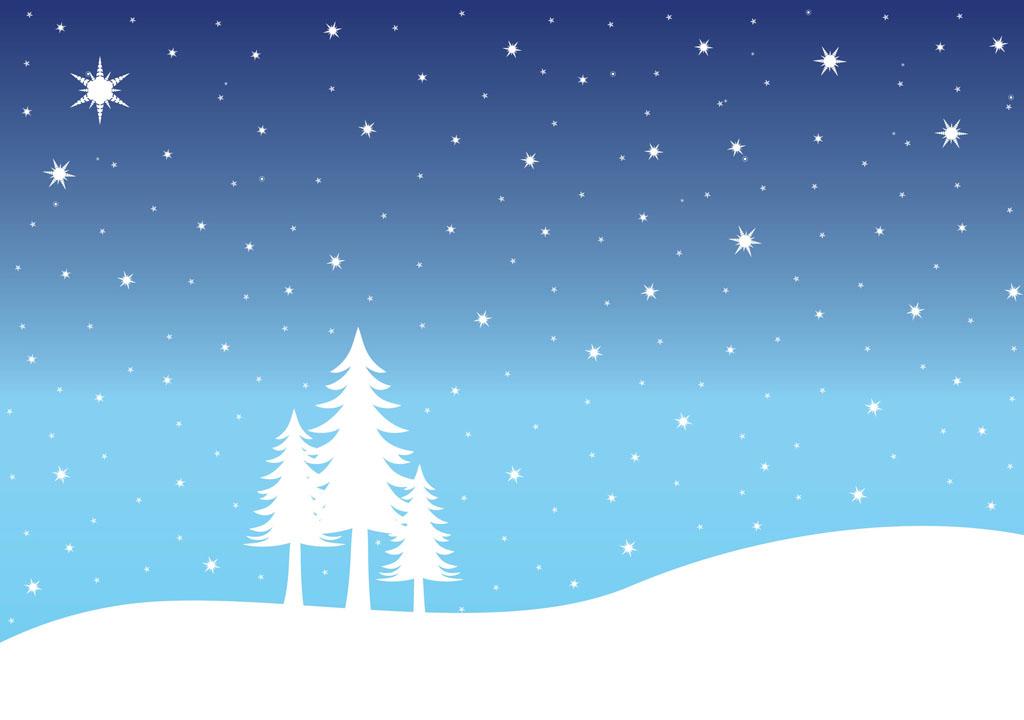 1024x720 Snow Landscape Clipart