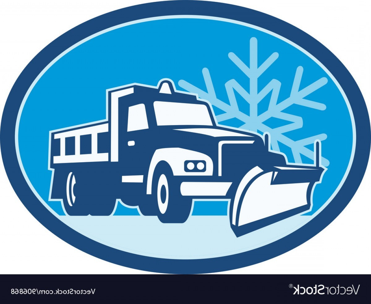 1200x982 Snow Plow Truck Retro Vector Clipart 7