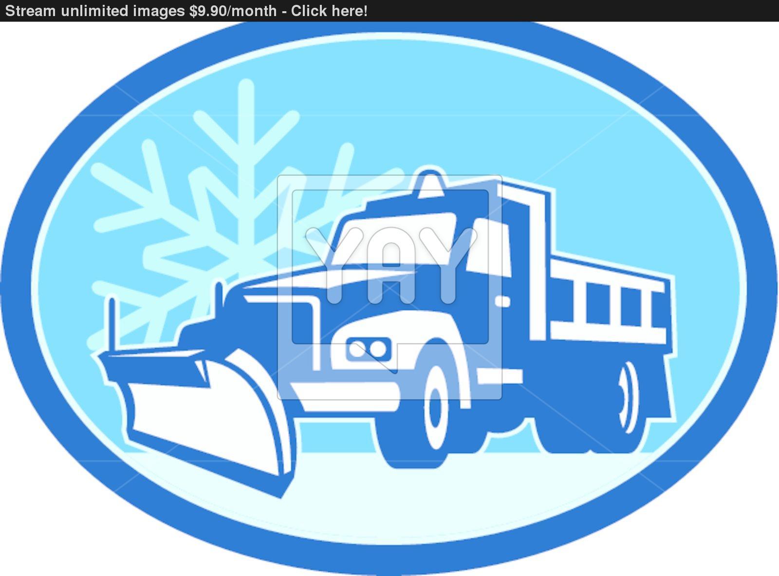 1600x1183 Snow Plow Truck Retro Vector