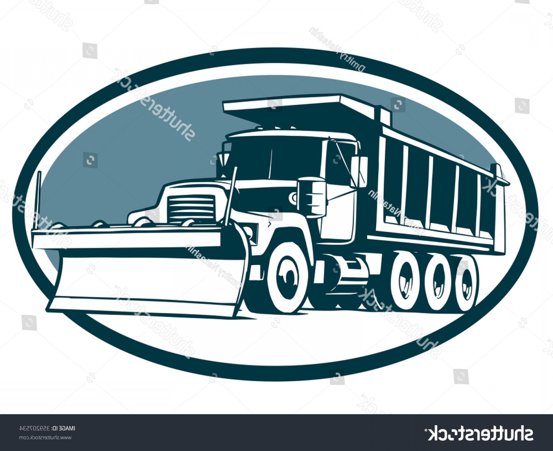 1800x1470 Snow Plow Truck Vector Illustration Tipper Orangiausa