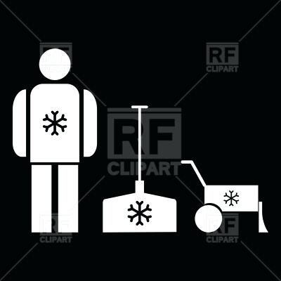400x400 Snow Removal Clip Art Snow Removal Icons With Shovel Download