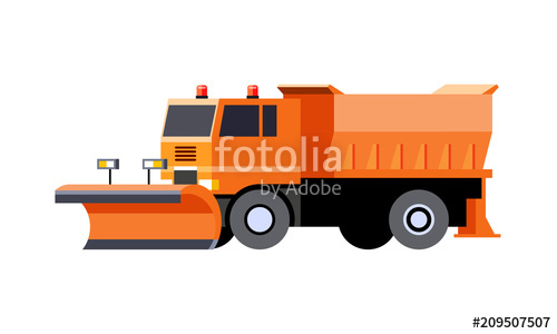 500x300 Snow Plow Utility Truck Stock Image And Royalty Free Vector Files
