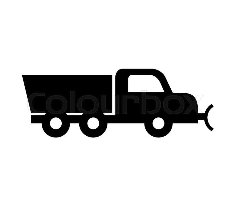 800x700 Snowplow Truck Icon Stock Vector Colourbox