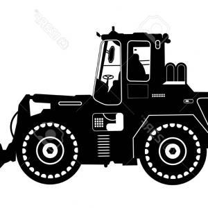 300x300 Photostock Vector Detailed Excavator Snow Plow Tractor Vector