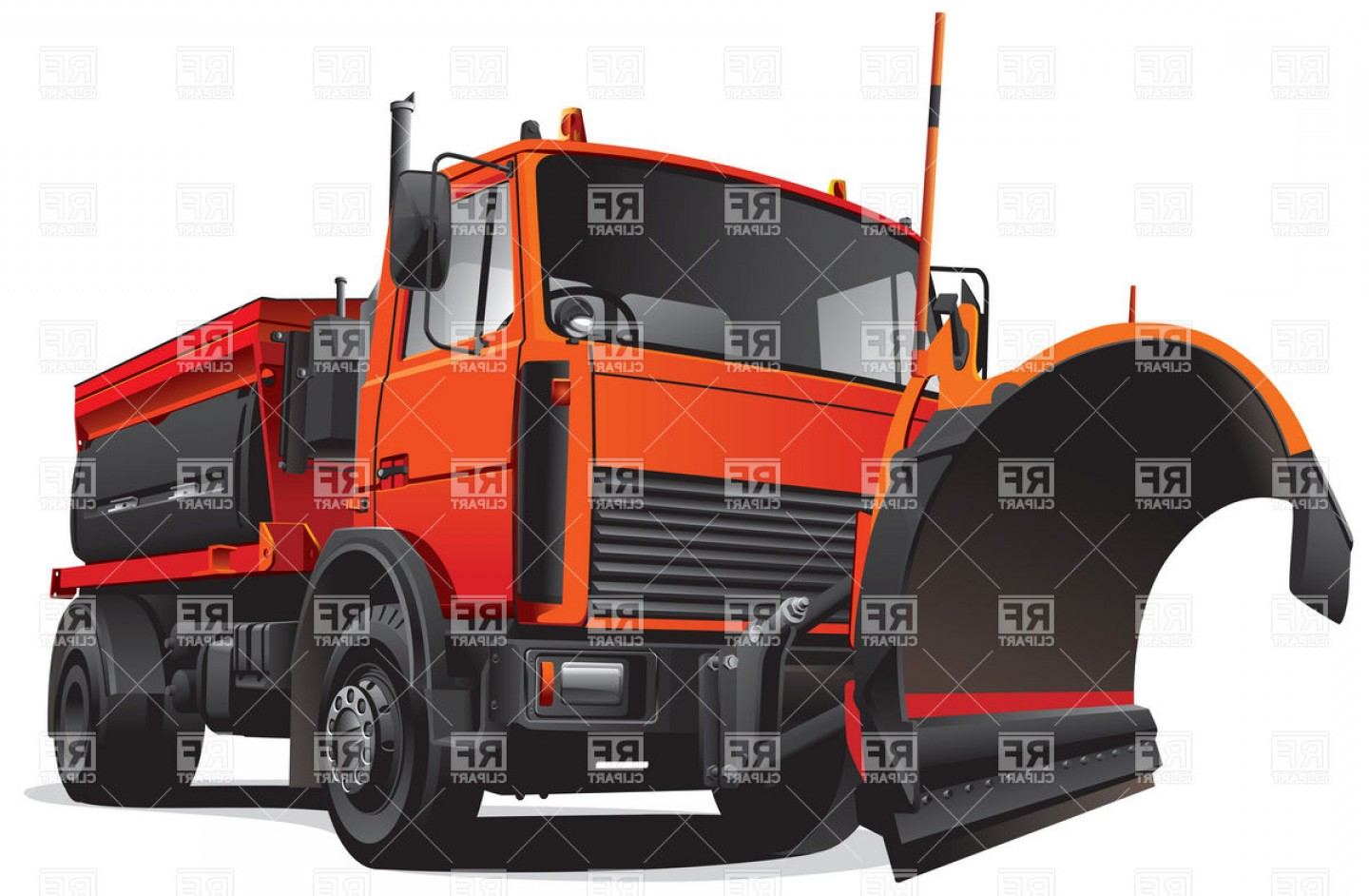 1440x942 Snow Fighter Snow Plow Vector Clipart Orangiausa
