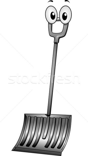 340x600 Snow Shovel Mascot Vector Illustration Lenm ( 4636590) Stockfresh