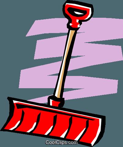 402x480 Snow Shovel Royalty Free Vector Clip Art Illustration Hous0501